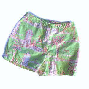 Lilly Pulitzer Cabana Banana Shorts ~ Pink Green 4